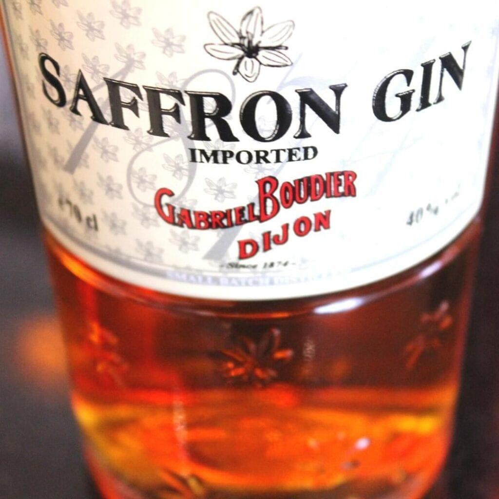 Billede af Saffron gin etikette