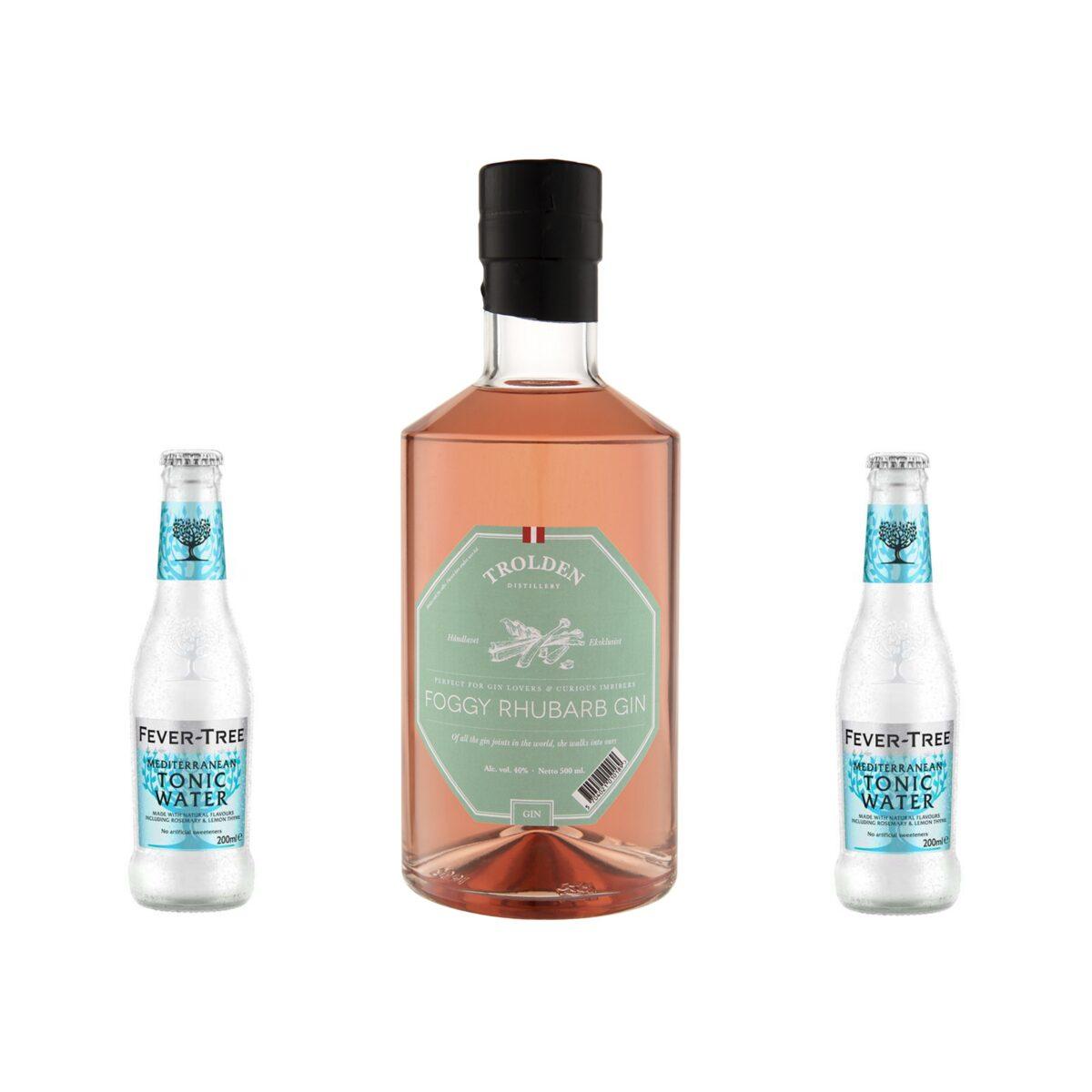 Ginpakke med Troldens Rabarber Gin