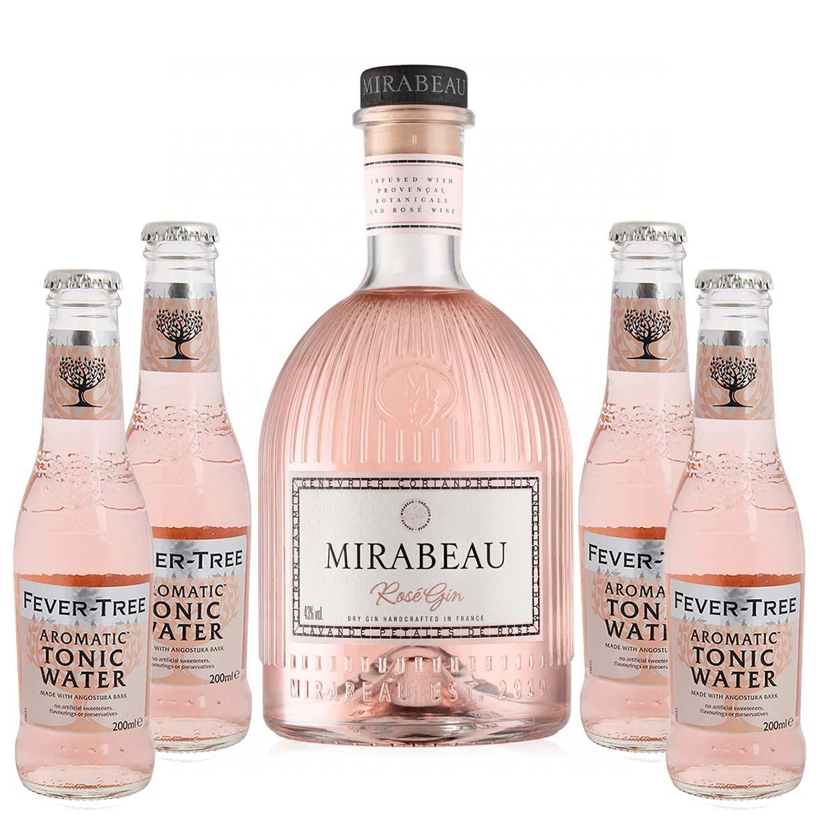 Mirabeau Rose Gin - Fever Tree Aromatic Pakke