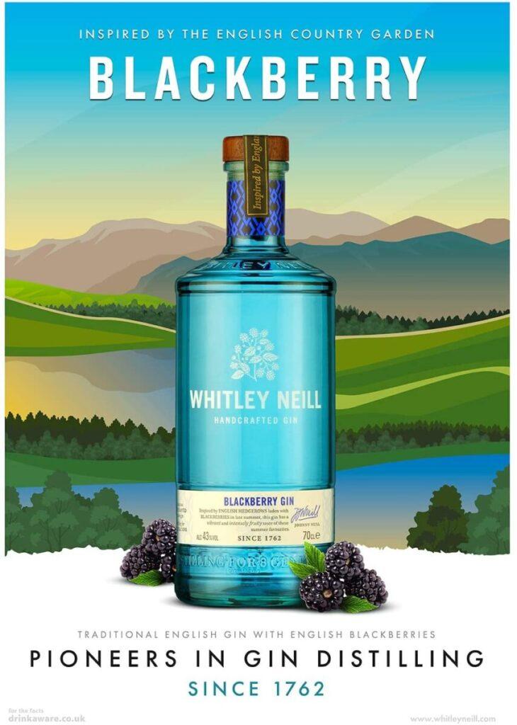 Stemningsbilled Whitley Neill Blackberry Gin