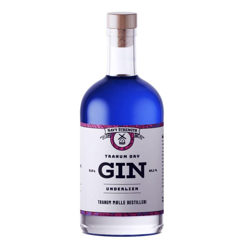 Billede af en flaske Tranum Mølle Underlien Gin