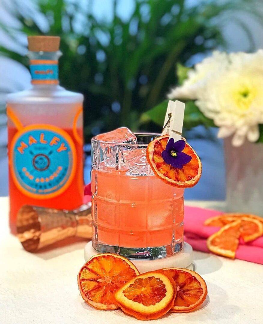 Billede af en cocktail med Malfy Blood Orange