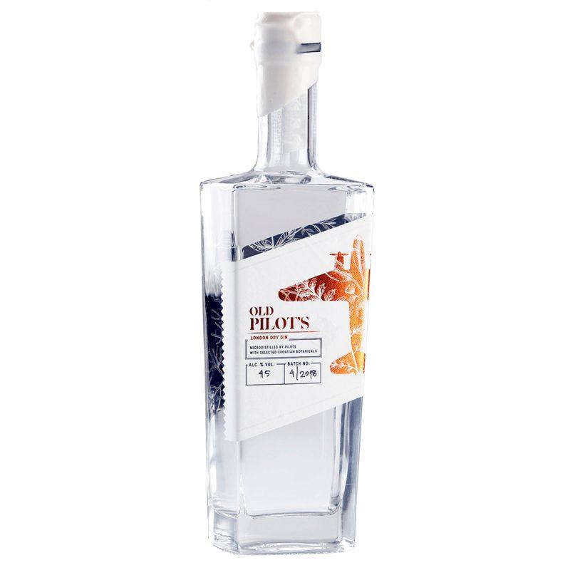Billede af en flaske Old Pilots Gin