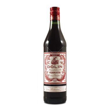 Et billede af en flaske Dolin Rouge Vermouth